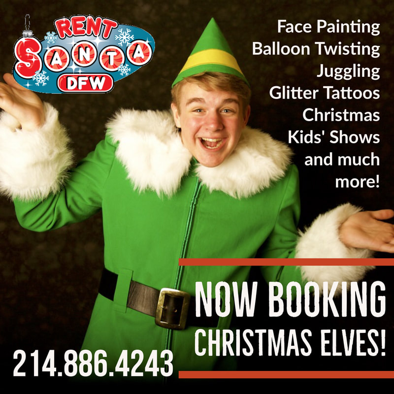 Dallas elf, Christmas elf DFW, elves for hire Dallas, Santa for hire,  elves, holiday elf, christmas elves, elf for party, book an elf, christmas helper, santa helper, balloon animals, face painting, christmas party ideas dallas, Fort Worth, Texas, Dallas, Arlington, Frisco, Plano, Richardson, Mckinney, Allen, Southlake, Santa-for-Hire