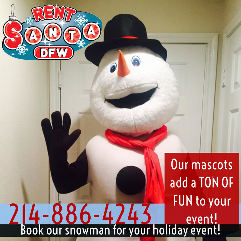 snowman character, christmas snowman, christmas character, christmas party ideas, christmas party ideas for kids, holiday parties dfw, dallas party ideas, rent santa dallas texas, dallas santa rental, Santa for hire dallas, texas, richardson, plano,  McKinney, Allen, Fort Worth, DFW, Arlington, Southlake, Grapevine